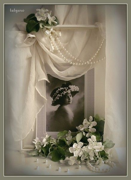 soft draping over picture..really elegant