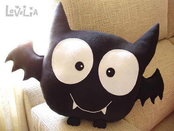 Bat Boy CUSHION Decorative plush pillow  by lovelia on Etsy