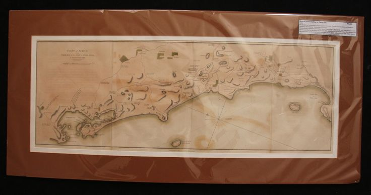 Map of Saldanha Bay to Table Bay, South Africa by John Barrow 1805