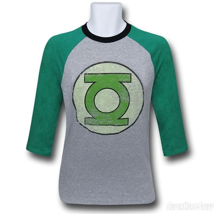 Green Lantern Symbol Men's Baseball T-Shirt