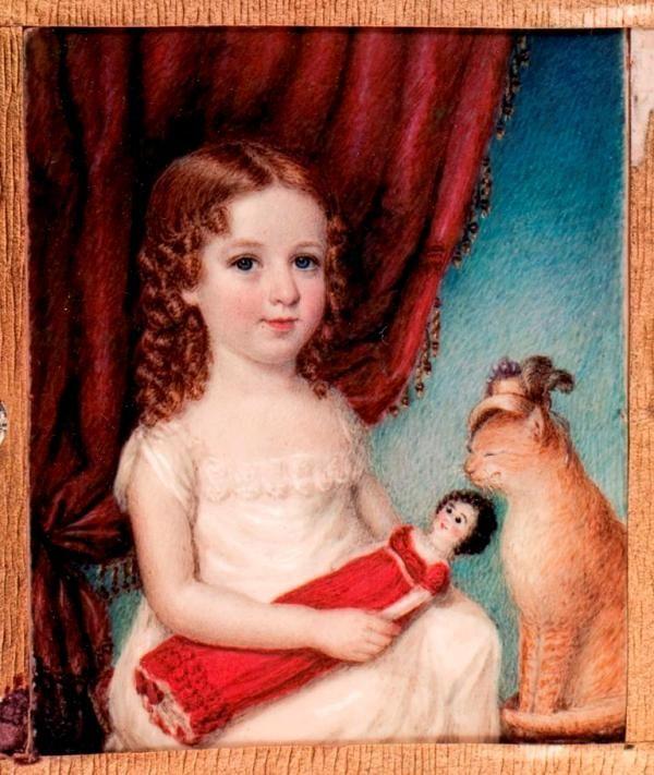 Sarah Goodridge (1788–1853) - Portrait miniature of Georgina Gardner Lee (1820)