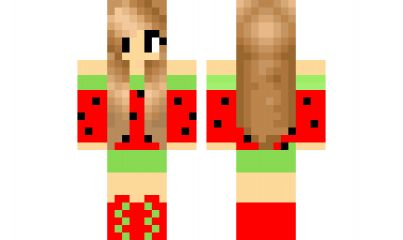minecraft skin melon-girl