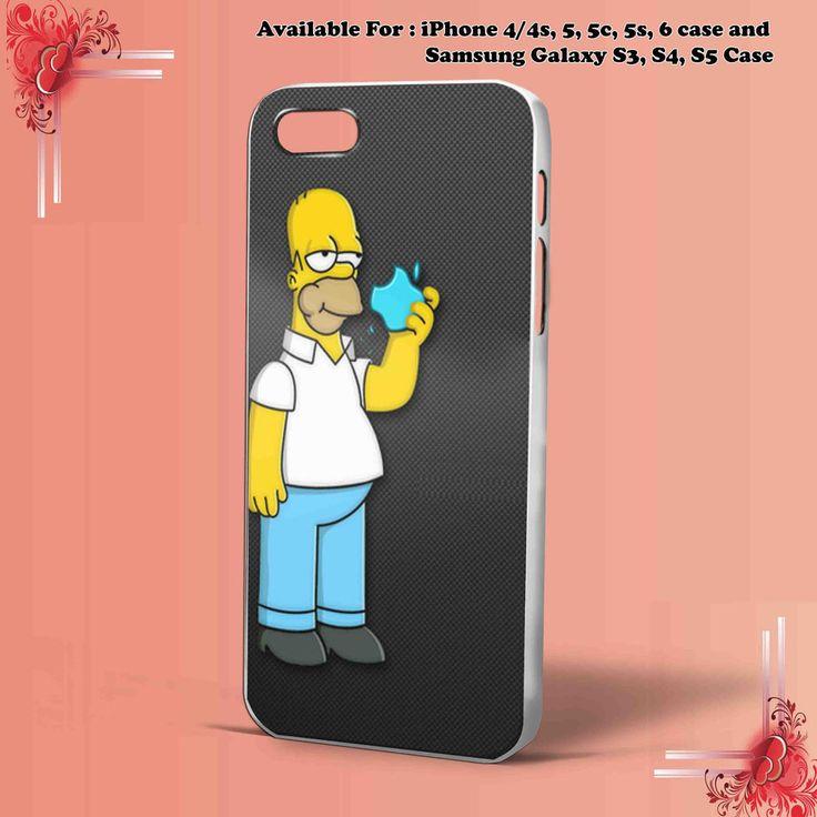 SIMPSON APPLE  for iPhone case & samsung galaxy Case Hard Plastic