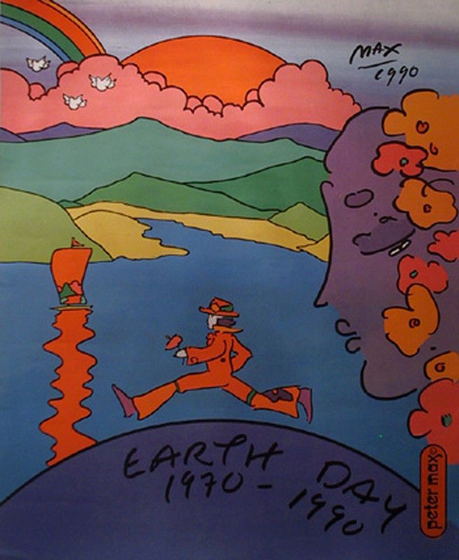 Peter Max, Earth Day, Poster | eBay