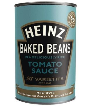 An integral part of the full English breakfast, Heinz Baked Beans reached back into their vault to restore 60-year-old packaging in honor of the Queen's inaugural year. We dig the delightfully retro look of the 1952 can—assuming, of course, that the contents are are more up to date.   Cool Hunting