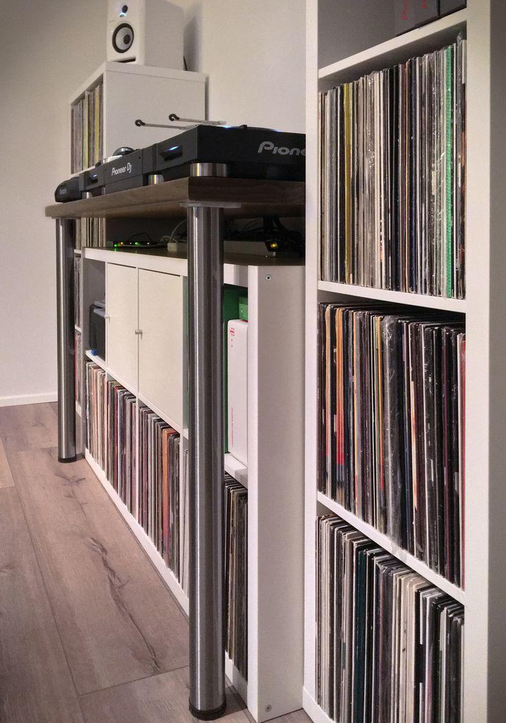 New DJ Pult Pioneer DJ selfmade diy ikea DJ Schallplatten