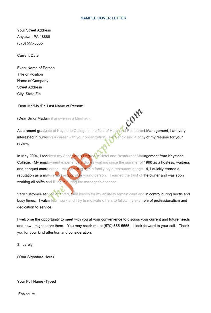 Below We Will Show You How To Write A Resume Cover Letter