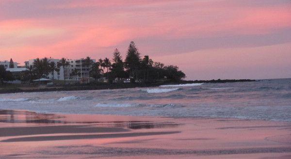 Pink sunset at Bargara, Queensland (East Coast) Australia