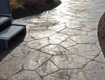 Image result for stamped concrete patio flagstone look
