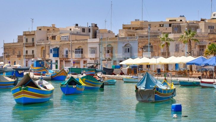 Malta Marsaxlokk Mar Mediterraneo