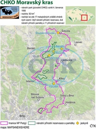 Grafický PROFIL k 60. výročí (4. července) zřízení Chráněné krajinné oblasti Moravský kras.