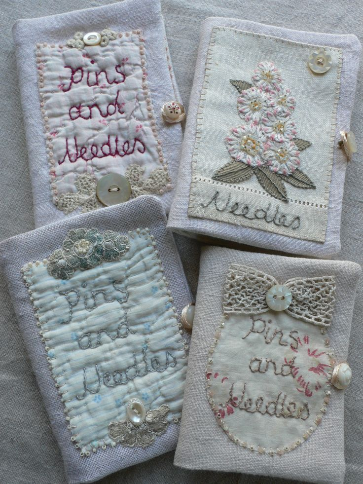 Needlebooks by Gentlework  These would also be so cute to keep patterns and stitch glossaries in!!!