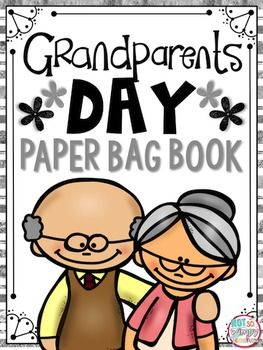 Grandparents Day is September 7th! Help your students to make this sweet paper bag memory book that they could give as a gift to a special grandma or grandpa. The kit includes:DirectionsPictures of the final productFront and back cover6 inside pages with prompts for students to write about their grandparents4 inserts to go in the pockets of the bags where students can draw pictures of their grandparentsAll you need to add is 2 paper lunch bags for each student.Check out my other paper bag…