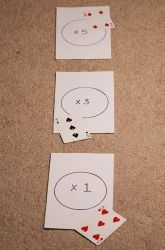 Multiplication Darts....what a fun way to practice times tables! It's important that children understand the process of multiplication, but after that they need to simply memorize them! Why not make the practice fun?! You could do the same thing w/basic addition facts using the cards.