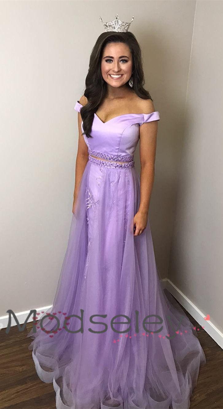 88e141466f8 two piece long prom dresses