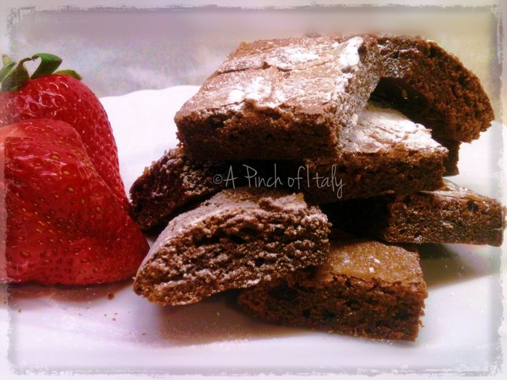 Brownies alla Nutella, ricetta 3 ingredienti, a Pinch of Italy