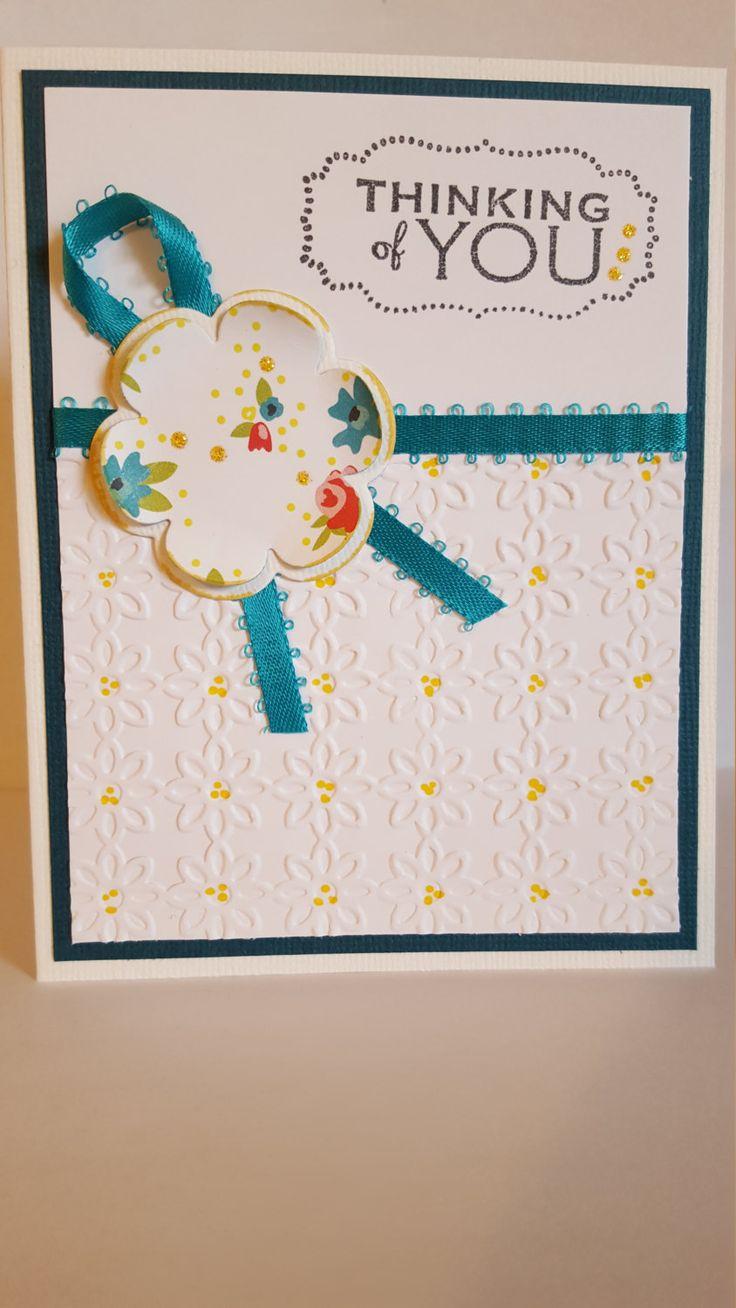 Thinking Of You Handmade Card by SimoneSaysCardShop on Etsy