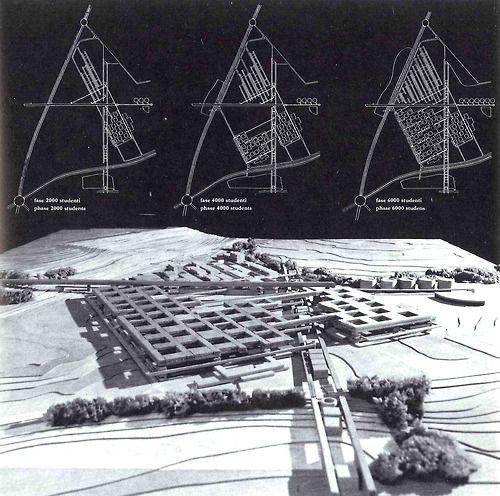 Mario Botta, Tita Carloni, Aurelio Galfetti, Flora Ruchat, Luigi Snozzi | Federal Polytechnic school in Lausanne Competition, EPFL, 1970, Lausanne