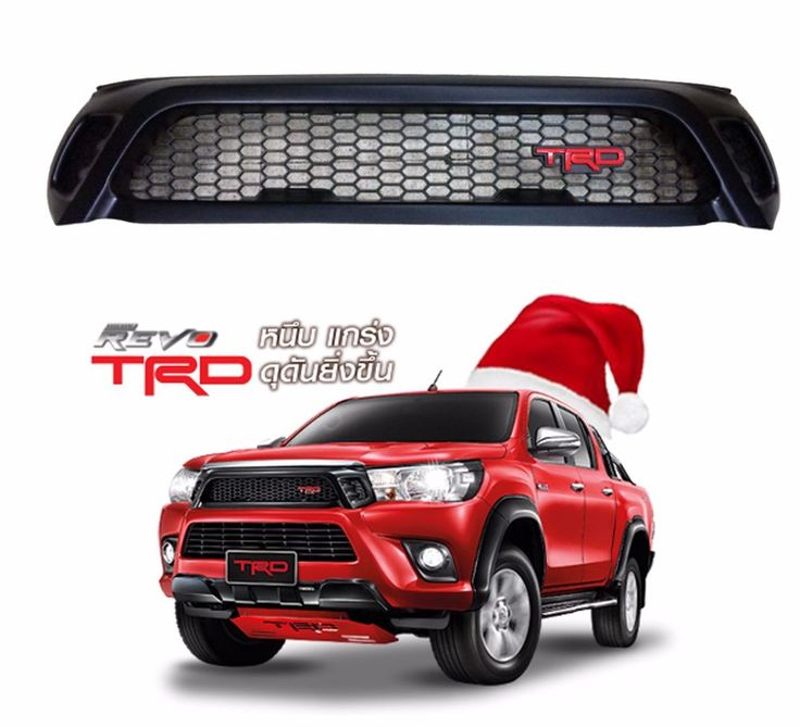GENUINE PARTS NEW TOYOTA HILUX  REVO TRD SR5 M70 M80 BLACK FRONT GRILL 2015-2016…