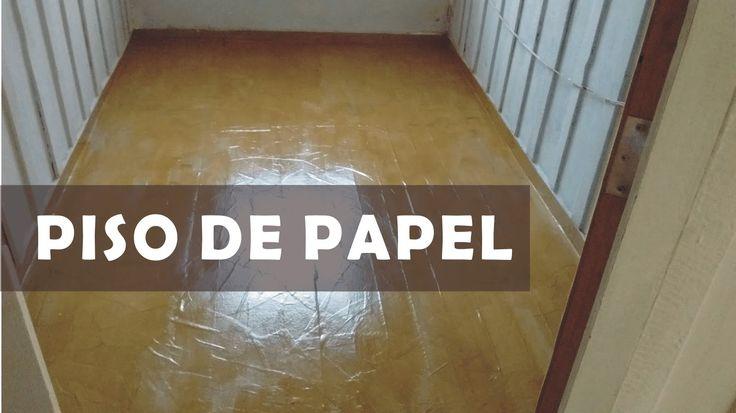 Piso de papel Craft - Uma alternativa para renovar ou reformar pisos
