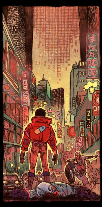 """**Akira (1988) Director: Katsuhiro Otomo - To quote the book: """"... animated masterpiece is the pinnacle of Japanese Apocalyptic science fiction."""" I saw this at a sci-fi con the year it came out, subtitled, and it remains one of my favorite anime films.  Rewatched it recently and I still love the imagery.  """" I... am Tetsuo."""""""