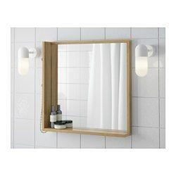 IKEA - RÅGRUND, Spiegel, , An den seitlichen Knöpfen lässt sich Schmuck und Ähnliches aufhängen.Bambus ist ein strapazierfähiges Naturmaterial.Spiegel mit Sicherheitsfolie auf der Rückseite, die das Gefahrenrisiko durch splitterndes Glas mindert.