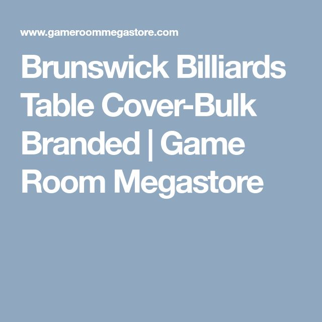 Brunswick Billiards Table Cover-Bulk Branded | Game Room Megastore
