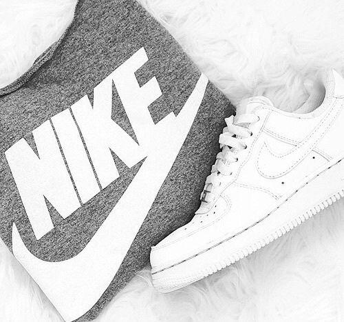 fashion, nike, tumblr, grey, white