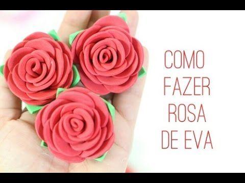 Aprenda à fazer 3 modelos diferentes de rosas de EVA - YouTube