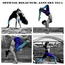 Haute Legz in 'Alexis Stripe' COMING JANUARY 2014   k deer haute yoga