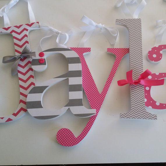 Best 25+ Chevron painted letters ideas on Pinterest   Chevron ...