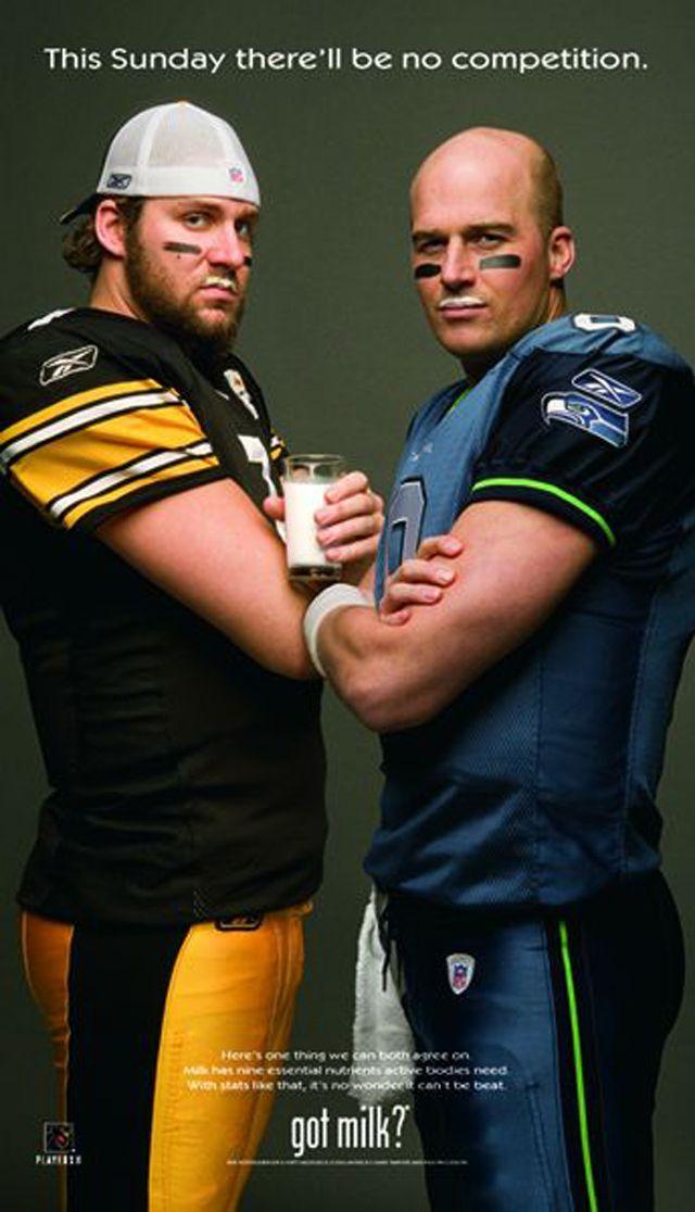 Pittsburgh Steelers Qb Ben Roethlisberger And Atlanta Falcons Qb Matt Hasselbeck Got Milk 2006 Got Milk Got Milk Ads Milk