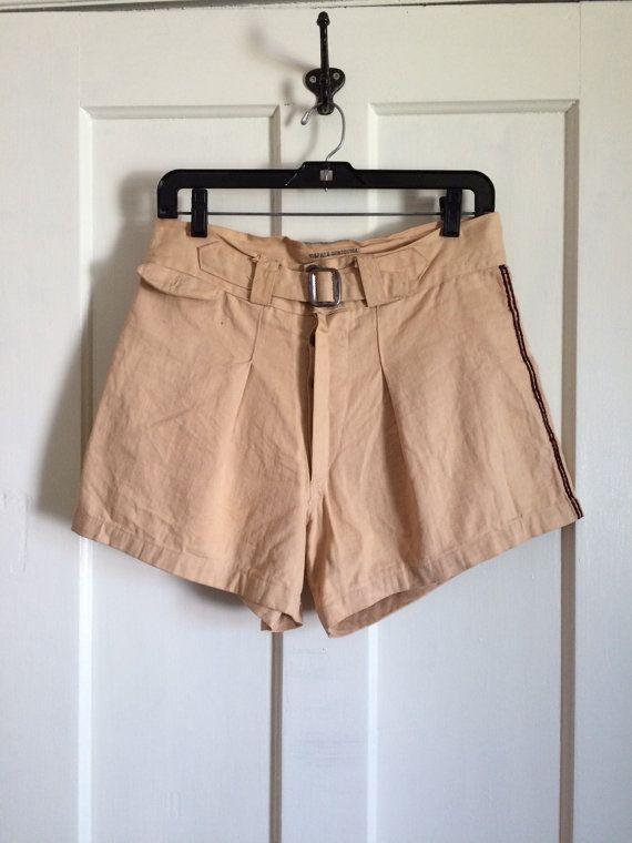 343.41 kr. Vintage 1930's HBT Cotton Button Fly Mens Shorts by sidvintage