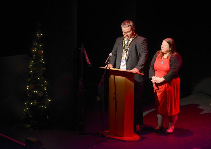 Town Mayor & Mayoress introducing the second half of the evening.