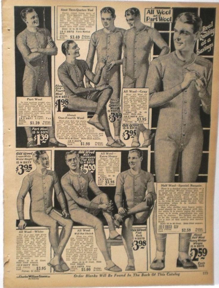 Men's Long Underwear 1927