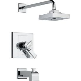 Arzo Chrome 1 Handle Bathtub And Shower Faucet Trim Kit