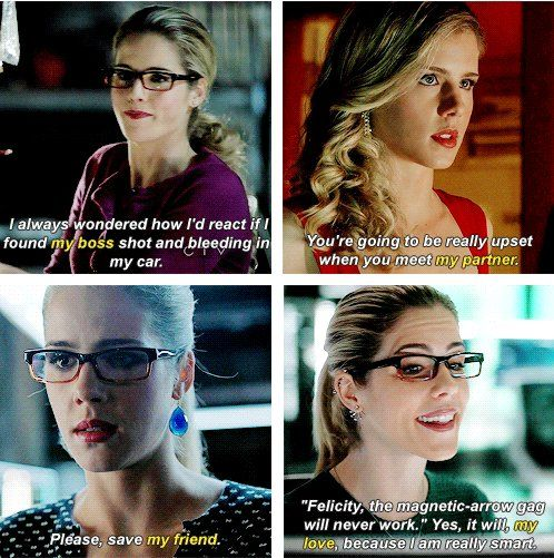 Felicity refering to Oliver: the evolution <3 #Olicity #Soulmates