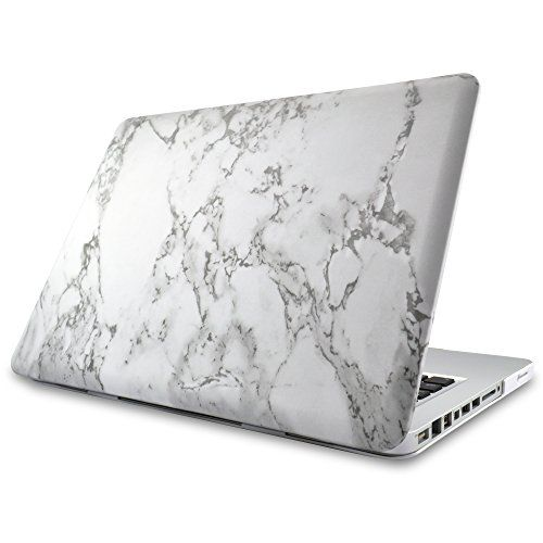 "Marble MacBook Pro 13"" Case Cover Novo Rubberized Hard Shell w/ Soft Touch Matte Finish Durable & Light-Weight Best Protection for Your Apple MBP 13 inch w/ CD-ROM Drive (Non Retina Display)"