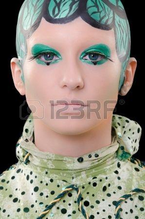 Personaje extraterrestre de una película de ciencia ficción. Foto de archivo.