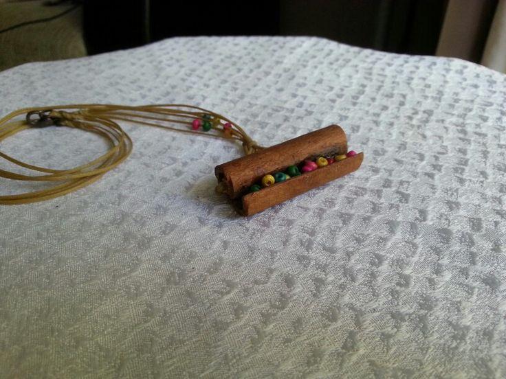 TARCIN KOLYELER , EL YAPIMI Cinnamon jewerly  handmade