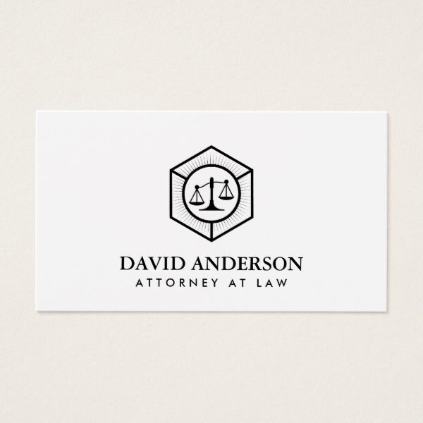Lawyer Attorney at Law Plain Minimalist Business Card Custom Legal Branding Office Products and Gifts #legal #lawyer #solicitor #law