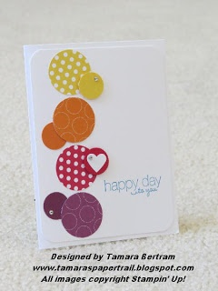 polka dot parade by tamara ... Easy card... Quick ,use up your scraps