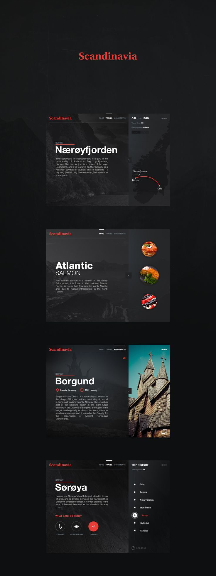 Scandinavia app on App Design Served