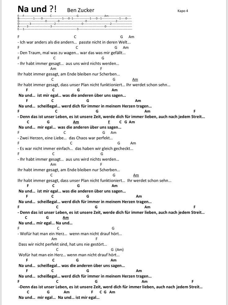 Songtext Deutsche Lieder