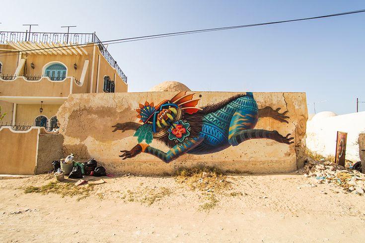 Curiot (Mexico) #streetart #erriadh #djerba #tunisia #acrylic #acrylic #spray