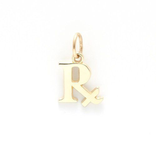 Pharmacy Charm In 14k Yellow Gold, Charms for Bracelets and Necklaces
