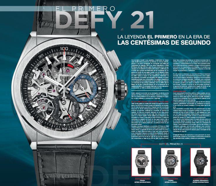 Advertorial Zenith #Defy2 #Editorialdesign #Luxury