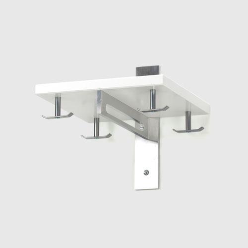 HALLHYLLA 5  W 31,5 x H30 x D 31,5 cm  Aluminium, White / Oak / Black Oak