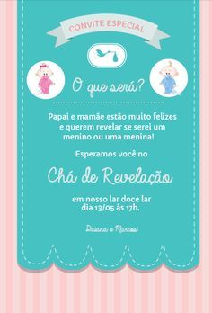 Realizando um Sonho   Blog de casamento e lar doce lar: Chá de Revelação do sexo do nosso bebê