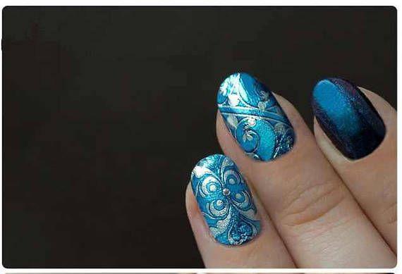 Nail Vitrage Unique Sticker Nails Nail Art Waterslide